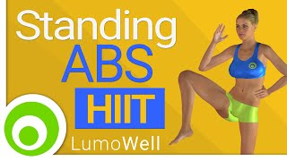 Standing ab workout : 10 minute hiit abs exercises to lose belly fat - YouTube