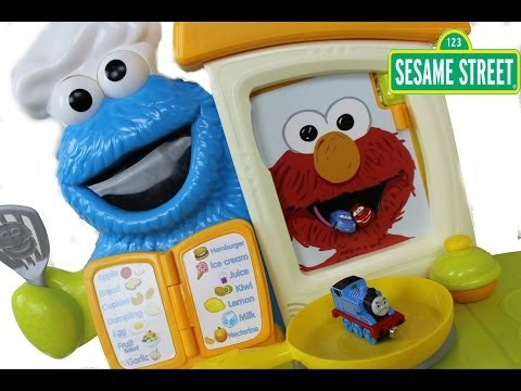 New playskool sesame street cookie monster kitchen caf for Playskool kitchen set