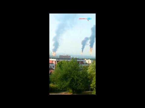Oheň v továrně