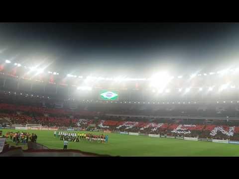 Mosaico da torcida do Flamengo no jogo contra o São Lourenço - Nação 12 - Flamengo