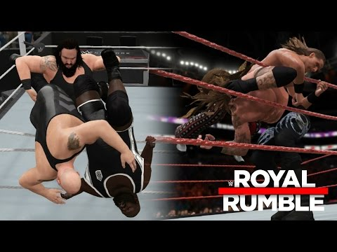 WWE 2K17 - Top 10 Royal Rumble Eliminations (WWE 2K17 Royal Rumble Finishers)