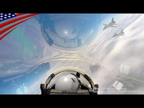 アメリカ空軍・第560飛行訓練隊パイロットによるT-38Cタロン高等練習機での編隊飛行のコックピット映像。  Cockpit...