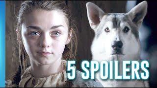 A estreia da sétima temporada de Game of Thrones se aproxima e como já suspeitamos de muitas coisas que irão acontecer, resolvemos listar 5 SPOILERS do ...