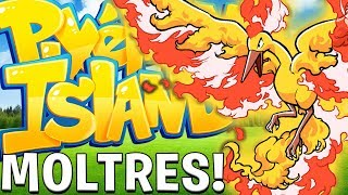 OP LEGENDARY MOLTRES (THE MEGA BIRD TRIO) - Minecraft Pixelmon Island SMP - Pixelmon Mod #19