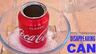 Исчезающая банка Coca-Cola эксперимент | Реакция гидроксида натрия (щелочь) с водой и алюминием
