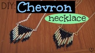 DIY: Chevron Necklace - YouTube