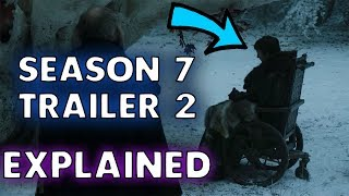 Check out my Game of Thrones Season 7 Trailer 2 Explained video! So many epic talking point. The Night King, Jon Snow and company North of the Wall, the sea battle between the Greyjoys and so much more.Do not miss this Game of Thrones Season 7 Breakdown.There is even a major Game of Thrones Season 7 spoiler right at the end which confirms a huge plot leak!I will also be uploading another video tomorrow covering possible content from Game of Thrones Season 7 Episode 1 as well as Game of Thrones Plot Leaks and Spoilers.Game of Thrones Official Trailer Breakdown.Game of Thrones Official Trailer Explained.