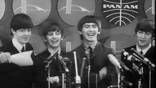 The Beatles Arrive at JFK airport New York for their first US performances