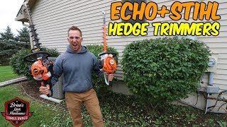 5. The BEST STIHL & ECHO Hedge Trimmers? Side By Side Comparison â–º Which Did We Like Better?