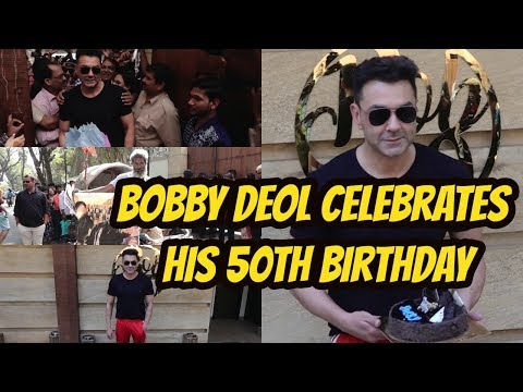 Bobby Deol Celebrates His 50th Birthday With Fan And Media