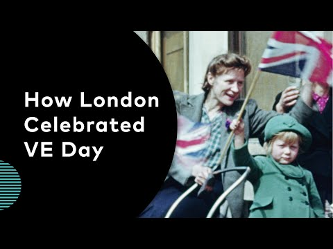 How London Celebrated VE Day | Archive Film with Music  | VE Day 75