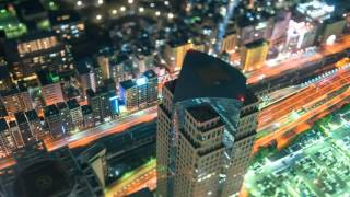 tilt shift time lapse YOKOHAMA Landmark Tower