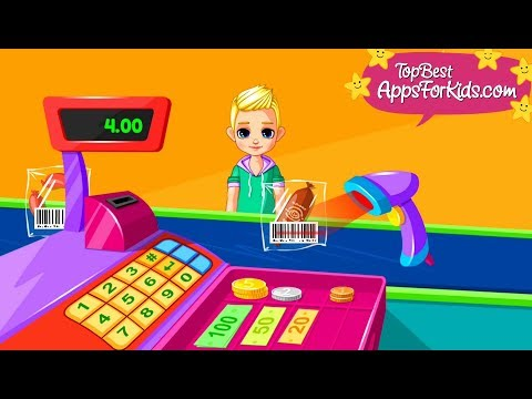 Supermarket Game App 🛒 Cash Register & More Mini Games For Kids