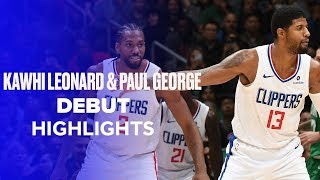 Kawhi Leonard (17 PTS) and Paul George (25 PTS) Clippers Debut Highlights vs. Celtics by Bleacher Report