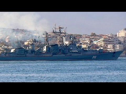 «Παρέλαση» ρωσικών πλοίων στο Βόσπορο
