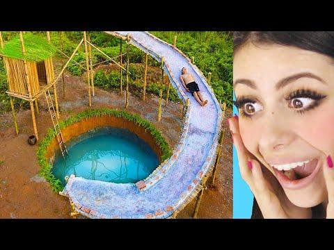KIDS BUILD Mind Blowing Water Slide
