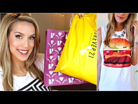 haul - I attacked Forever 21, Nordstrom, and Madewell so its haul video time! Thumbs up if youre a fan of wearing food/celebrities on your chest ;) WATCH THIS NEXT:...