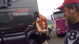 interlaken Suíça, 24 de junho 2017. Internacional Trucker & country festival interlaken 2017 Switzerland, Suisse,Suíça Scania V8 R730,power truck,caminhoneir...