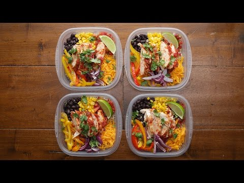 Chicken Burrito Bowls Weekday Meal-Prep