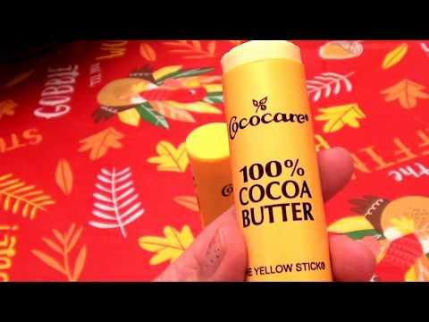 Кококар чистое какао масло желтый стик 3 шт и бальзам для губ в подарок