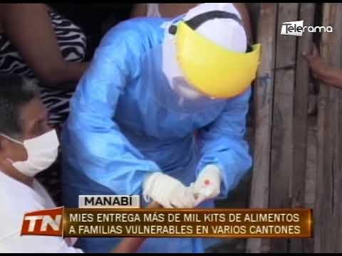 MIES entrega más de mil kits de alimentos a familias vulnerables en varios cantones