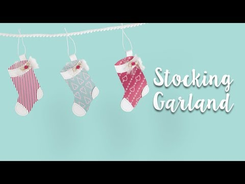 How to Make a Paper Stocking Garland!