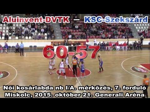Női kosárlabda NB I. A-csoport 7. forduló. Aluinvent DVTK – KSC Szekszárd