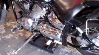 10. Tires and Breaks on a Yamaha V-Star 1100 Custom (2002)