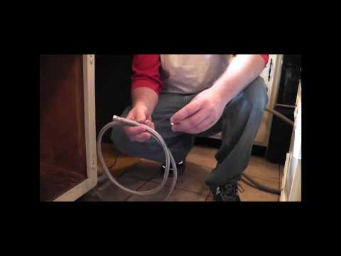 how to fasten a dishwasher under a granite countertop