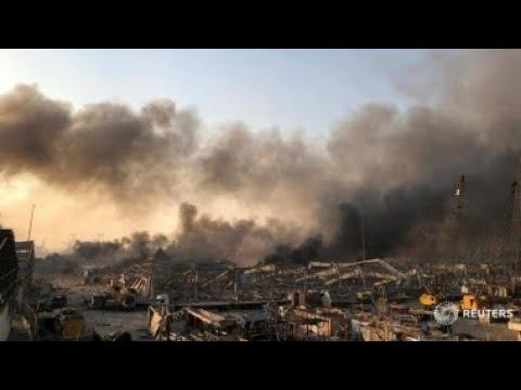 Прямая трансляция с места взрыва в Бейруте