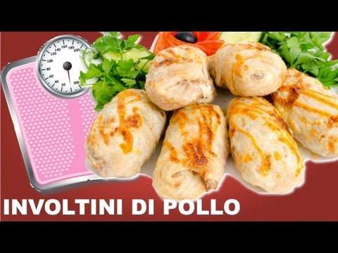 ricetta dietetica - involtini di pollo