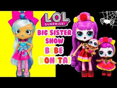 LOL SURPRISE Bebe Bonita Gets A Big Sister Show DIY Shopkins Shoppie Makeover