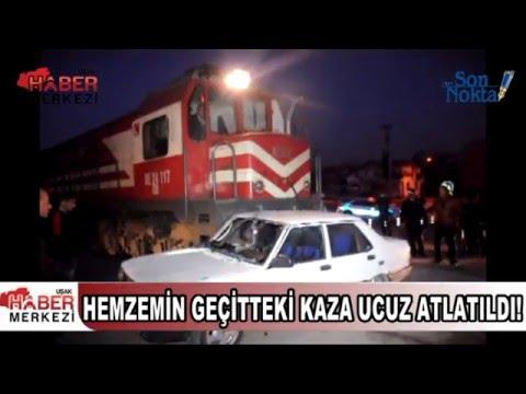 Tren, Hemzemin Geçitten Kontrolsüz Geçen Otomobile Çarptı!