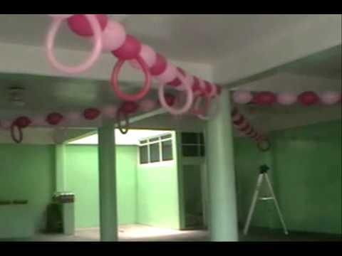 decoracion con globos  BAUTIZO