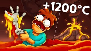 What If You Spend 1 Nanosecond In The Volcano?