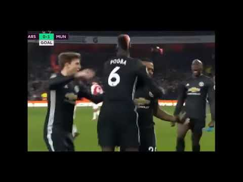 Arsenal vs Manchester United 1 3 Goals  Highlights 02 12 2017