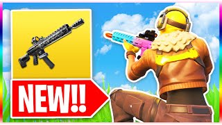 NEW Tactical Assault Rifle Gameplay in Fortnite! (Fortnite Battle Royale New Weapon Update)