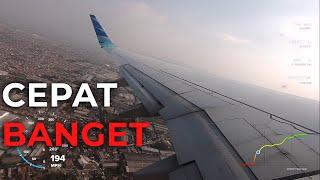 Video Kecepatan Pesawat Garuda Indonesia Boeing 737-800NG saat Take off di Bandung MP3, 3GP, MP4, WEBM, AVI, FLV Desember 2018