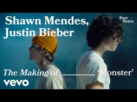 Shawn Mendes, Justin Bieber - The Making of 'Monster'   Vevo Footnotes