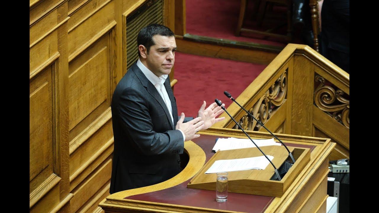 Ομιλία στη Βουλή στη συζήτηση επί της προτάσεως για παροχή ψήφου εμπιστοσύνης στην Κυβέρνηση