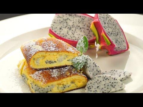 Recept :Piškotový moučník s  ovocem