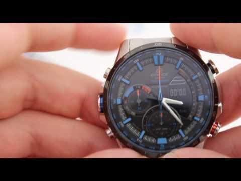Casio EDIFICE ERA-300DB-1A2 - инструкция, как настроить часы от PresidentWatches.Ru (видео)