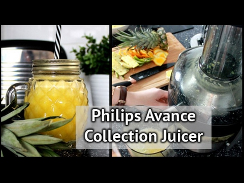 How To Use The Philips Avance Collection Juicer  | xameliax