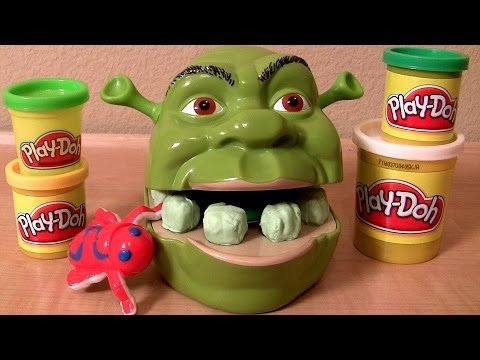 PlayDoh Shrek 2 Rot Teeth Rotten Root Canal Playset DreamWorks Dentist Playdough Ogre Dente Podre