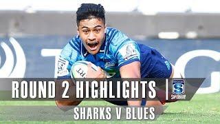 Sharks v Blues Rd.2 2019 Super rugby video highlights | Super Rugby Video Highlights