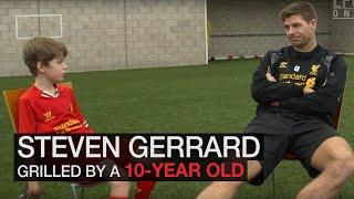 Steven Gerrard wird von 10-Jährigem ausgefragt