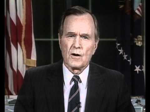 VIDEO: President Bush Announces Liberation of Kuwait