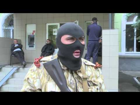 Pro-Russian activists occupy police department in Ukraine's Kramatorsk