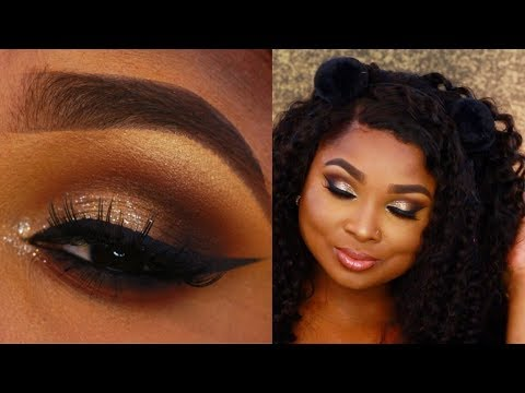 Neutral Glitter Glam - Glossy lips makeup tutorial - Queenii Rozenblad