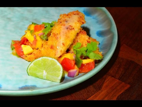 Florida Keys Reel Seafood, Onion Encrusted Yellowtail Snapper & Mango Salsa